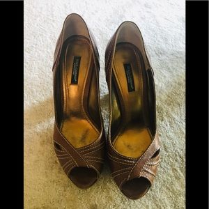 Preowned Vintage Dolce & Gabbana Open Toe Pumps